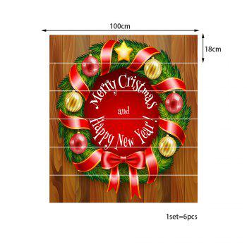 Christmas Wreath Greetings Pattern Stair Stickers - COLORMIX 100*18CM*6PCS