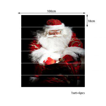 Christmas Santa Gift Bag Pattern Stair Stickers - COLORMIX 100*18CM*6PCS