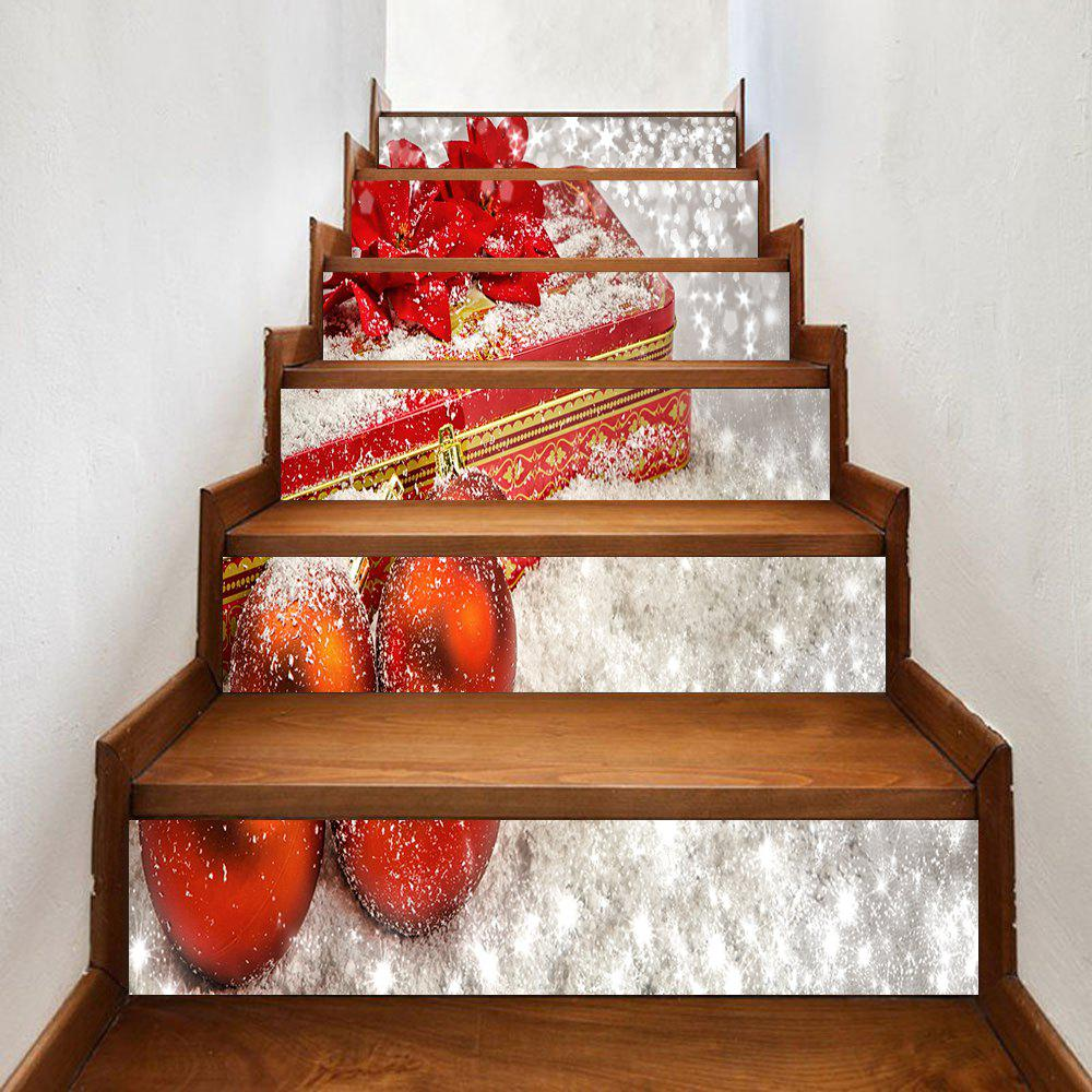 Christmas Gifts Baubles Pattern Stair Stickers - COLORMIX 100*18CM*6PCS