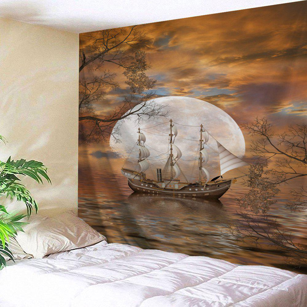 Moon Ship Print Tapestry Wall Hanging Art moon flac jeans