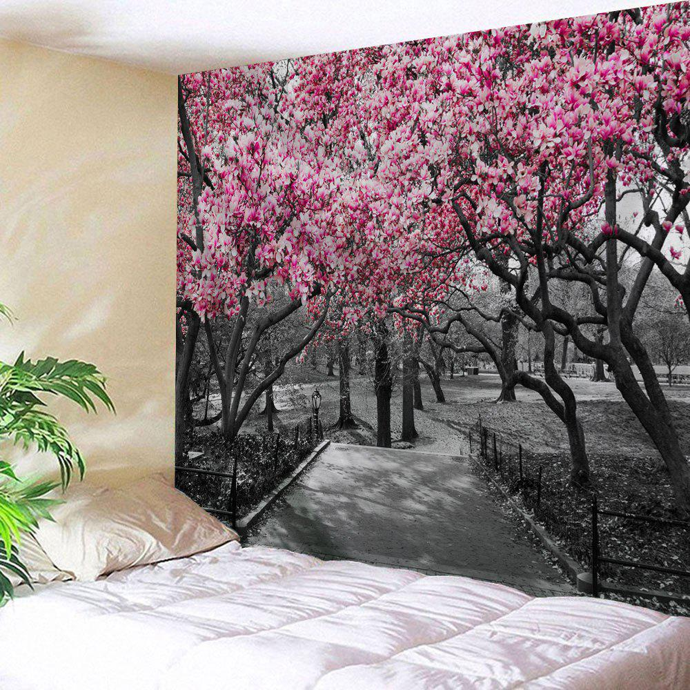 Flower Trees Path Print Tapestry Wall Hanging Art wall hanging art decor trees print tapestry