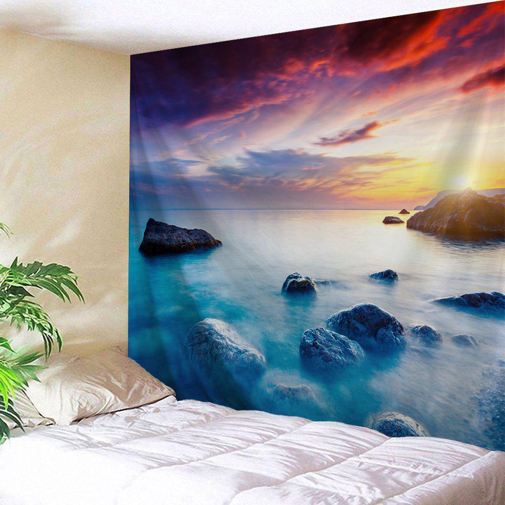 Seaside Sunset Printed Wall Tapestry wall art sunset pyramids printed unframed canvas paintings