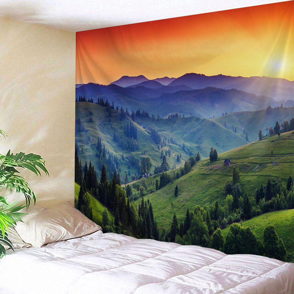 Continuous Mountains Printed Wall Hanging Art Tapestry outer space printed wall hanging tapestry