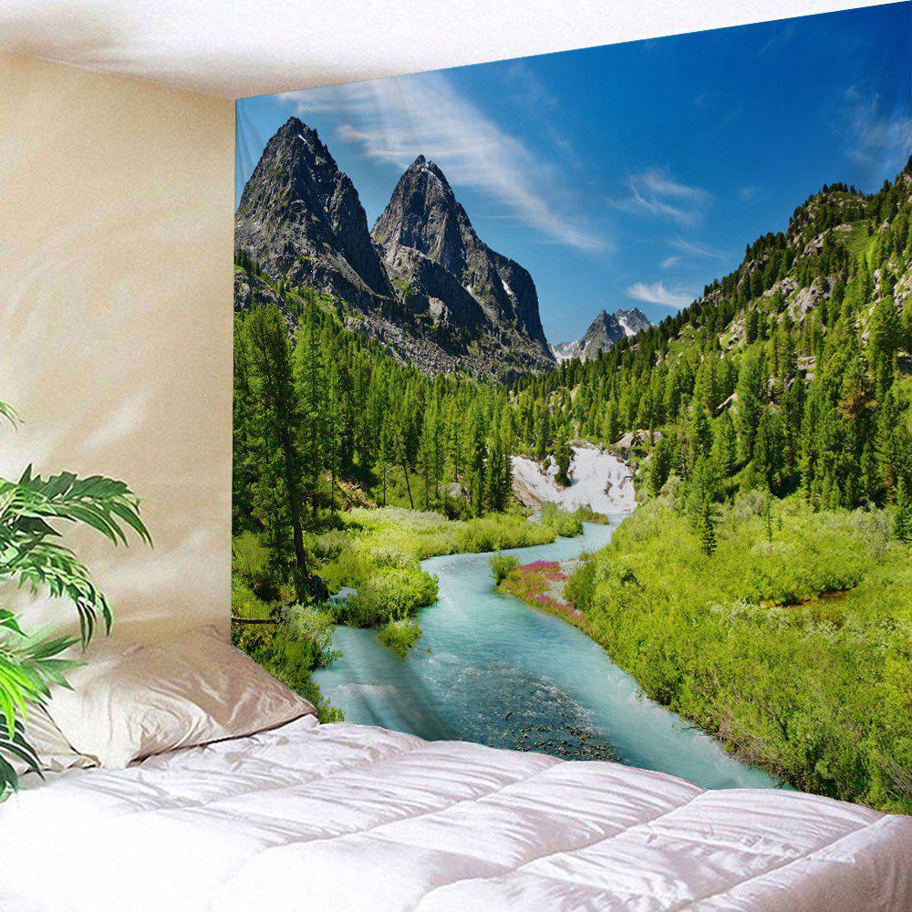 Mountain Forest Stream Printed Wall Hanging Art Tapestry forest river unicorn print tapestry wall hanging art