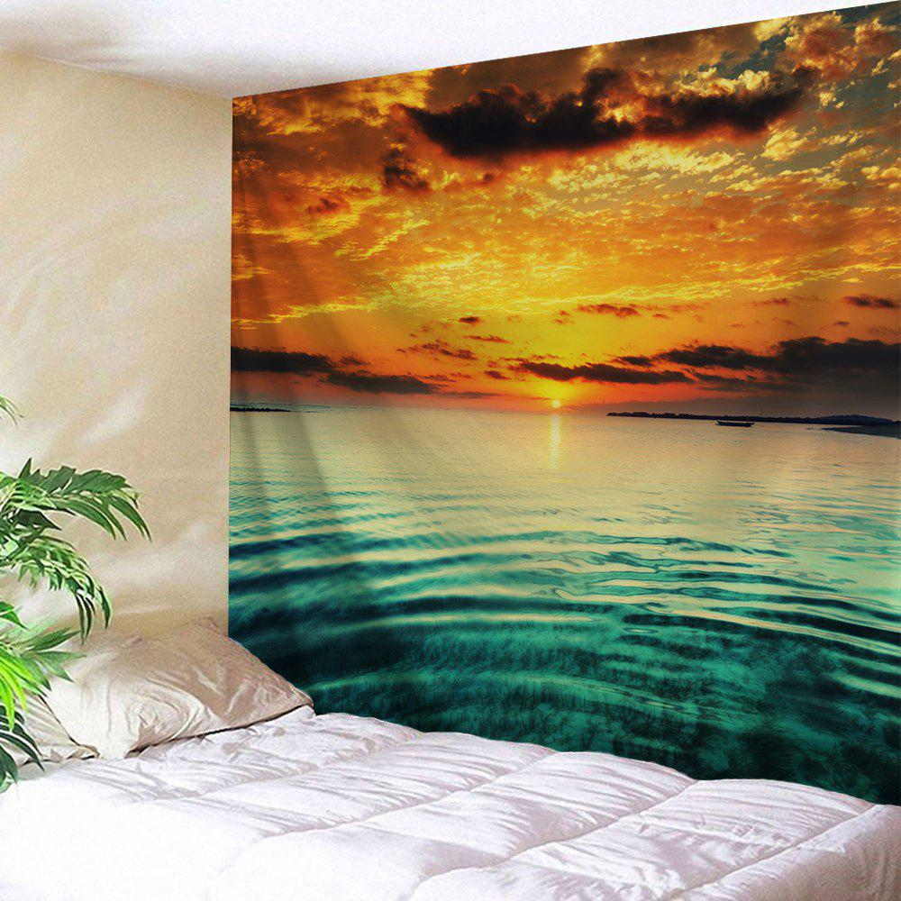 Sea Sunset Printed Wall Hanging Art Tapestry sea of clouds print tapestry wall hanging art