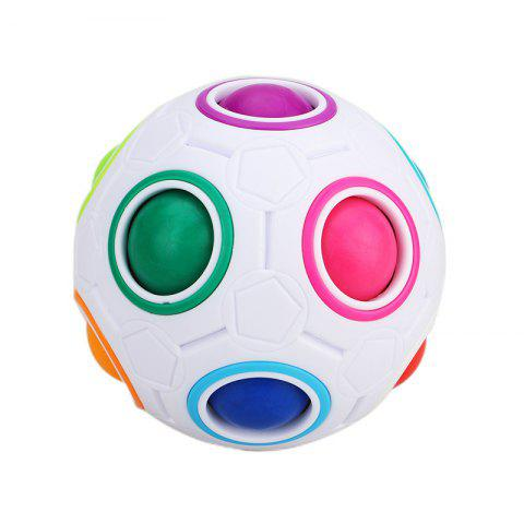 Creative Magic Rainbow Ball Anti-stress Jigsaw Puzzle Toy - COLORMIX