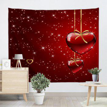 Valentine's Day Heart Starlight Print Tapestry Wall Hanging Decoration - RED W59 INCH * L59 INCH