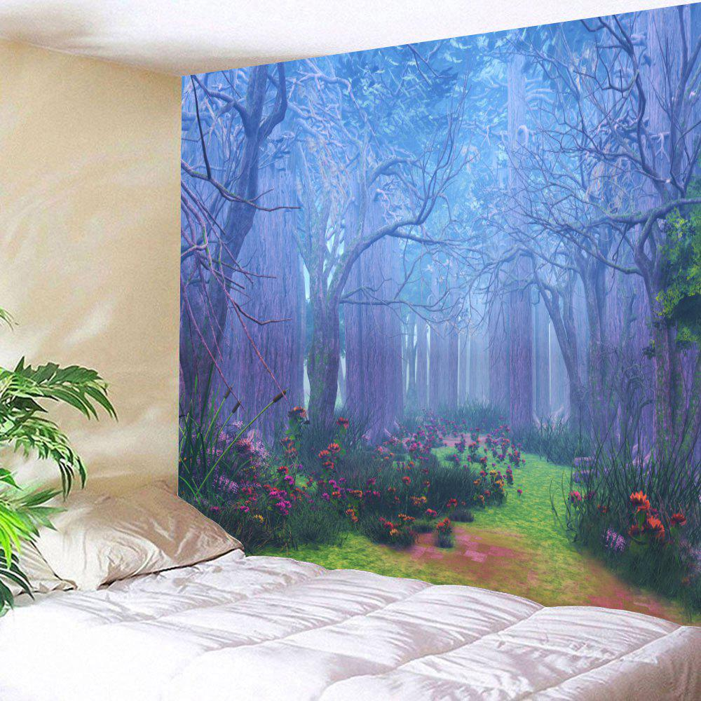 Forest Floral Path Print Tapestry Wall Hanging Decoration forest management