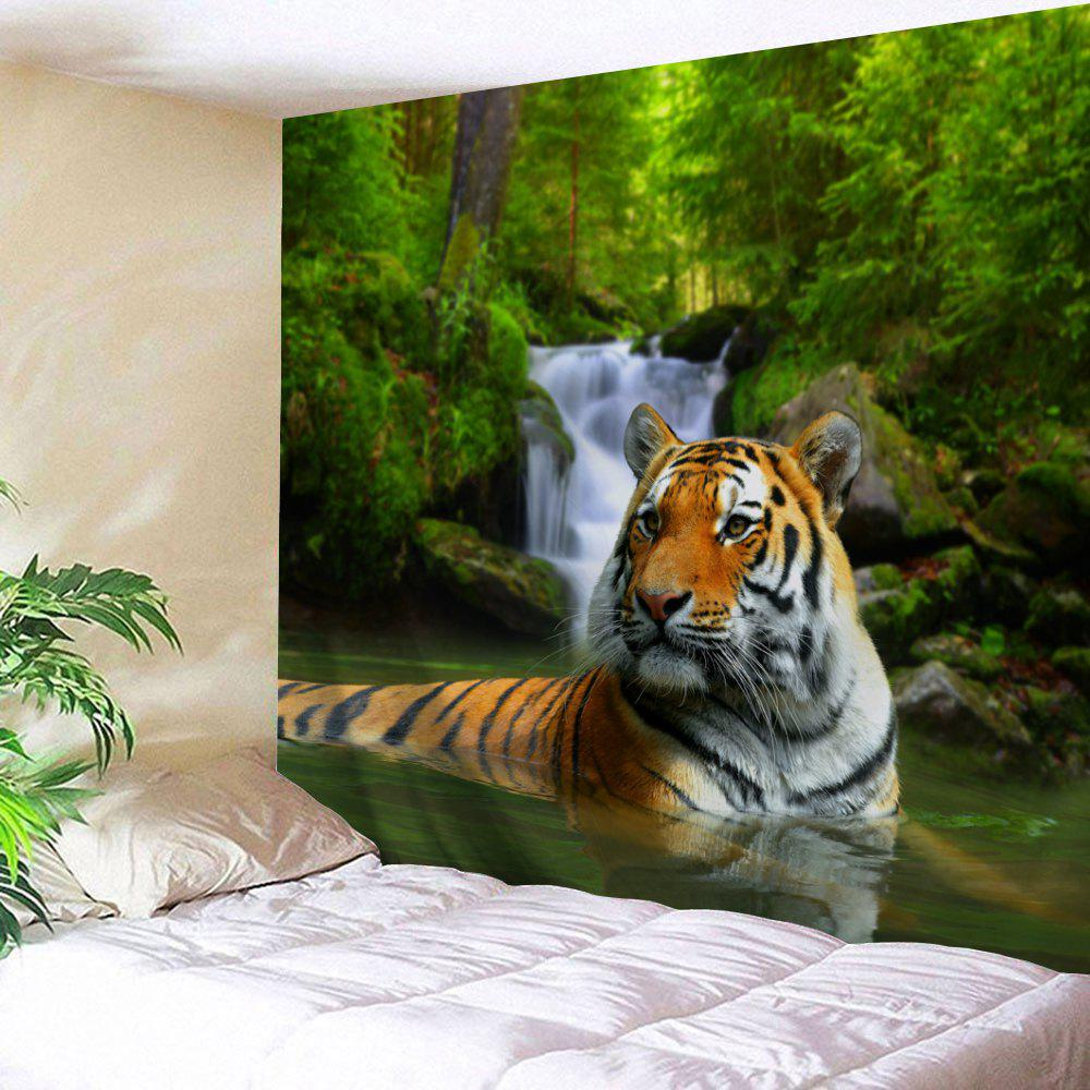 Forest Tiger Print Tapestry Wall Hanging Decoration forest river unicorn print tapestry wall hanging art