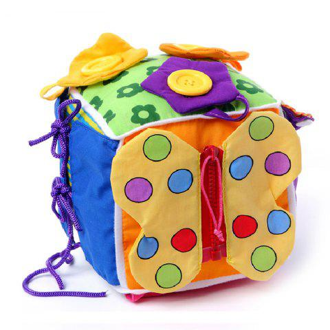 Multifunctional Clothes Box Dressing Practice Babies Early Education Toy - COLORFUL