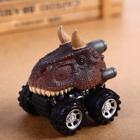Fun Children Dinosaur Pull Back Car Model Toy 1pc - COLORMIX D