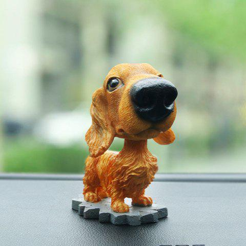 R - 8806 Creative Simulation Resin Shaking Dog Decoration - COLORMIX A