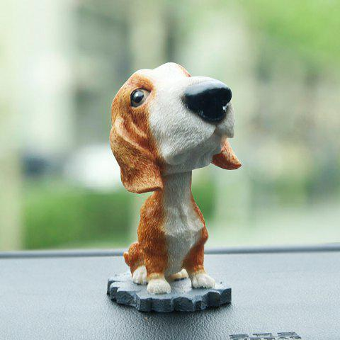 R - 8806 Creative Simulation Resin Shaking Dog Decoration - COLORMIX B