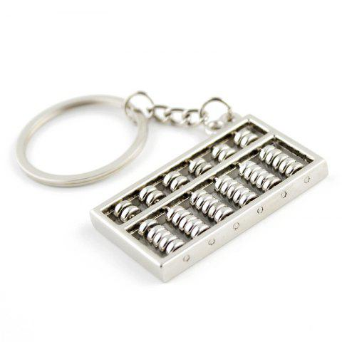 Stylish Keychain Abacus Decoration Toy Gift - SILVER