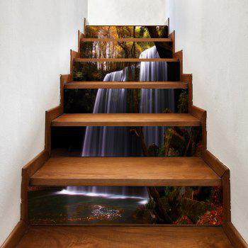 Forest Waterfall Pattern Decorative Stair Decals - COLORMIX COLORMIX