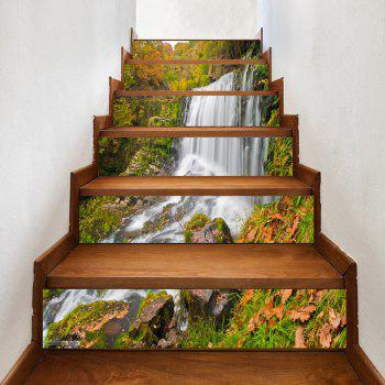 Mountain Waterfall Pattern Decorative Stair Decals - COLORMIX COLORMIX