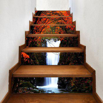 Maple Forest Waterfall Pattern Decorative Stair Decals - COLORMIX COLORMIX