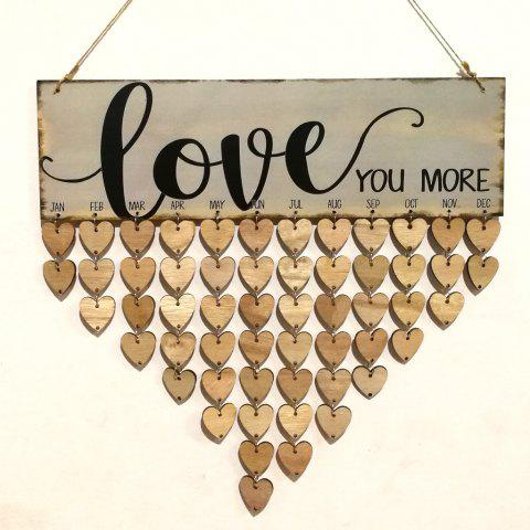 DIY Wooden Love Heart Birthday Calendar - HEART