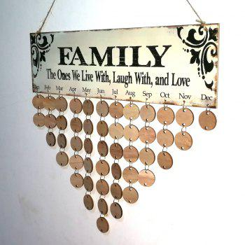 DIY Wooden Family Birthday Calendar Wall Hanging - ROUND