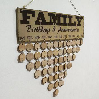 DIY Wooden Family Anniversaries and Birthday Calendar - ROUND
