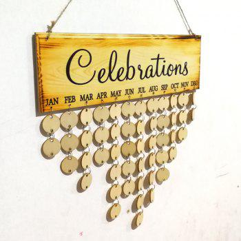 Celebrations Birthday Calendar DIY Wooden Reminder Board - ROUND