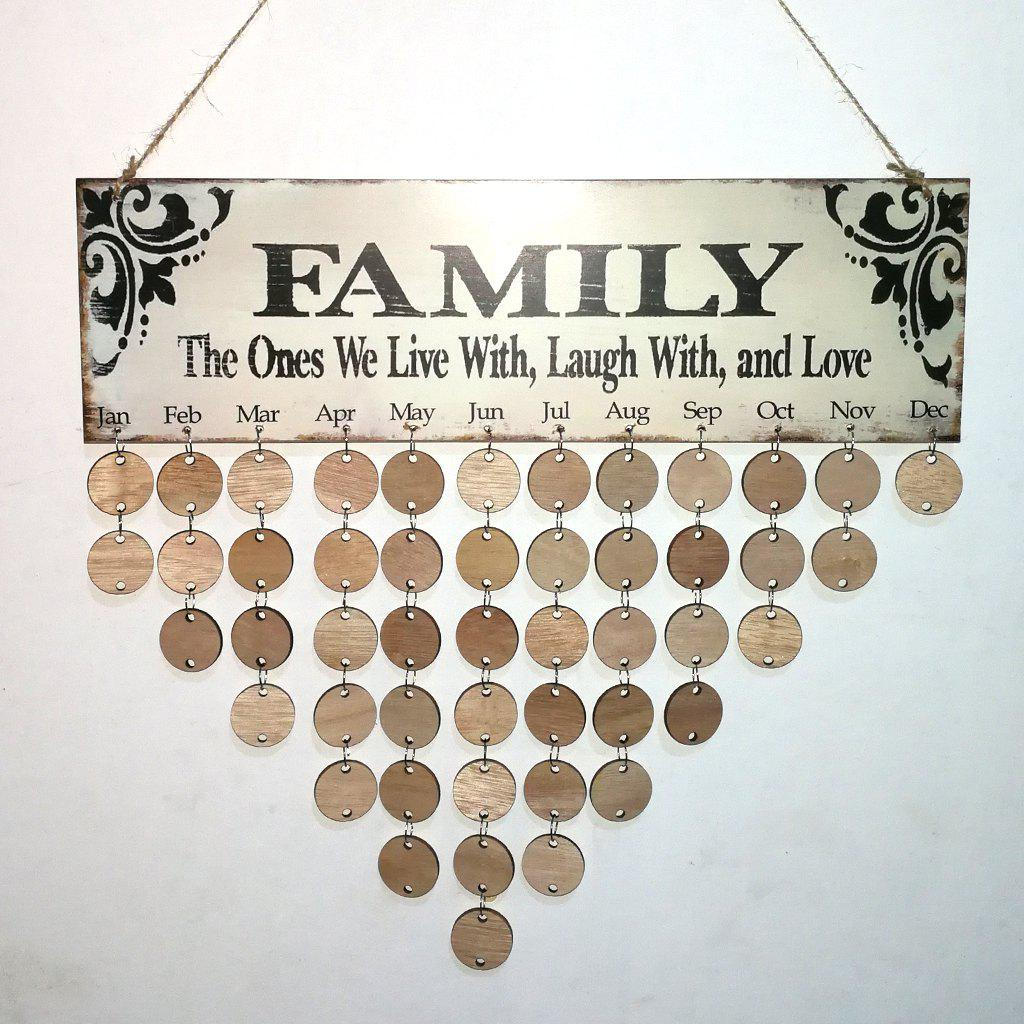 DIY Wooden Family Birthday Calendar Wall Hanging gayle m the hope family calendar