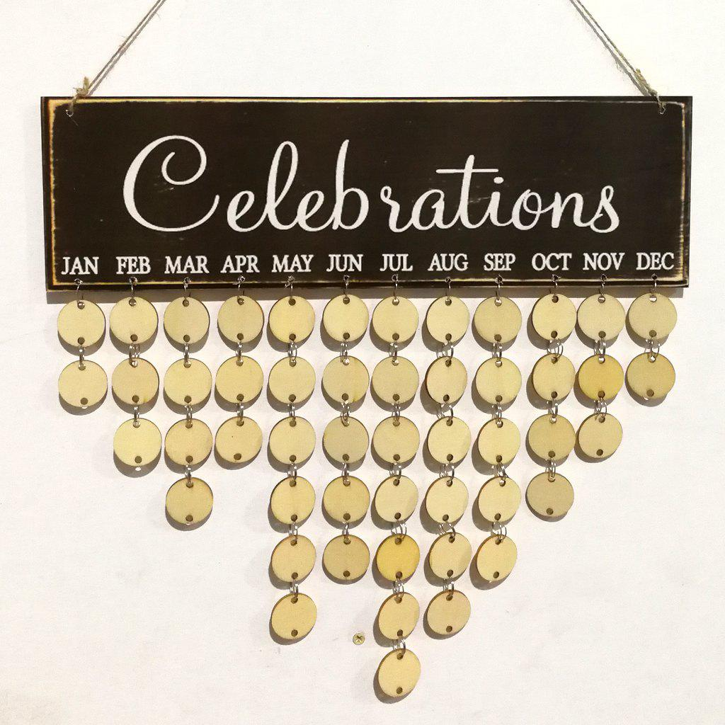 2018 DIY Wooden Celebrations Birthday Calendar ROUND In DIY Birthday ...