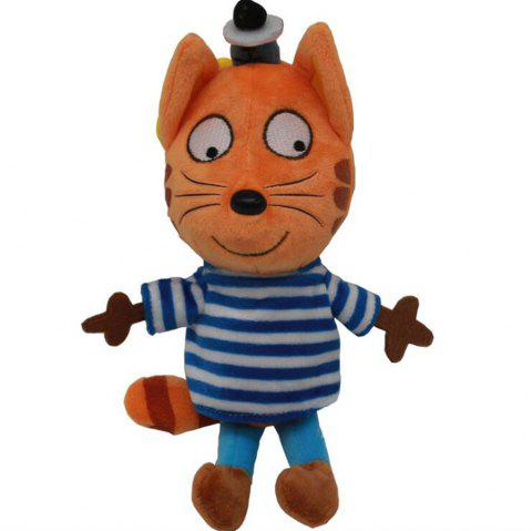 WUIBN Pretty Soft Stuffed Happy Cat Plush Doll Toy Gift 1pc - BLUE