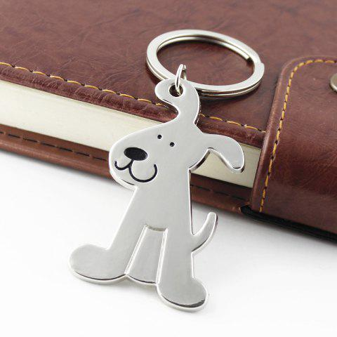 High-quality Metal Dog style Key Chain - SILVER