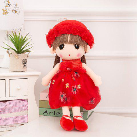 WUIBN Cute Baby Girl Stuffed Doll Toy Gift - RED