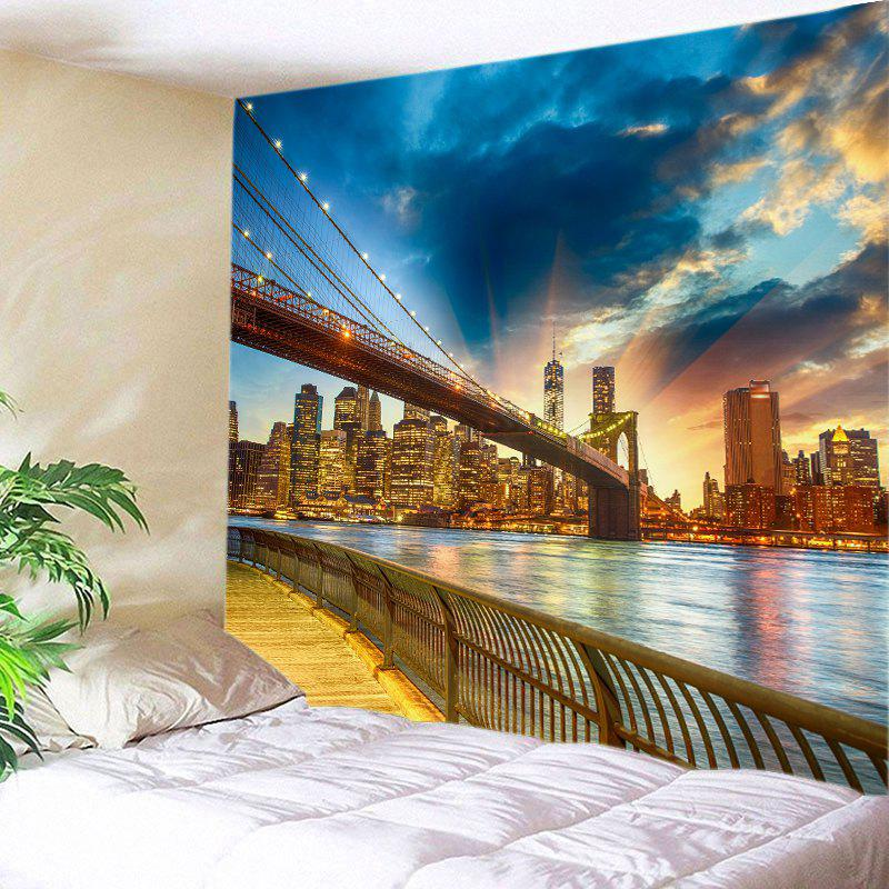 River In City Print Tapestry Wall Hanging Decoration valentine s day heart starlight print tapestry wall hanging decoration