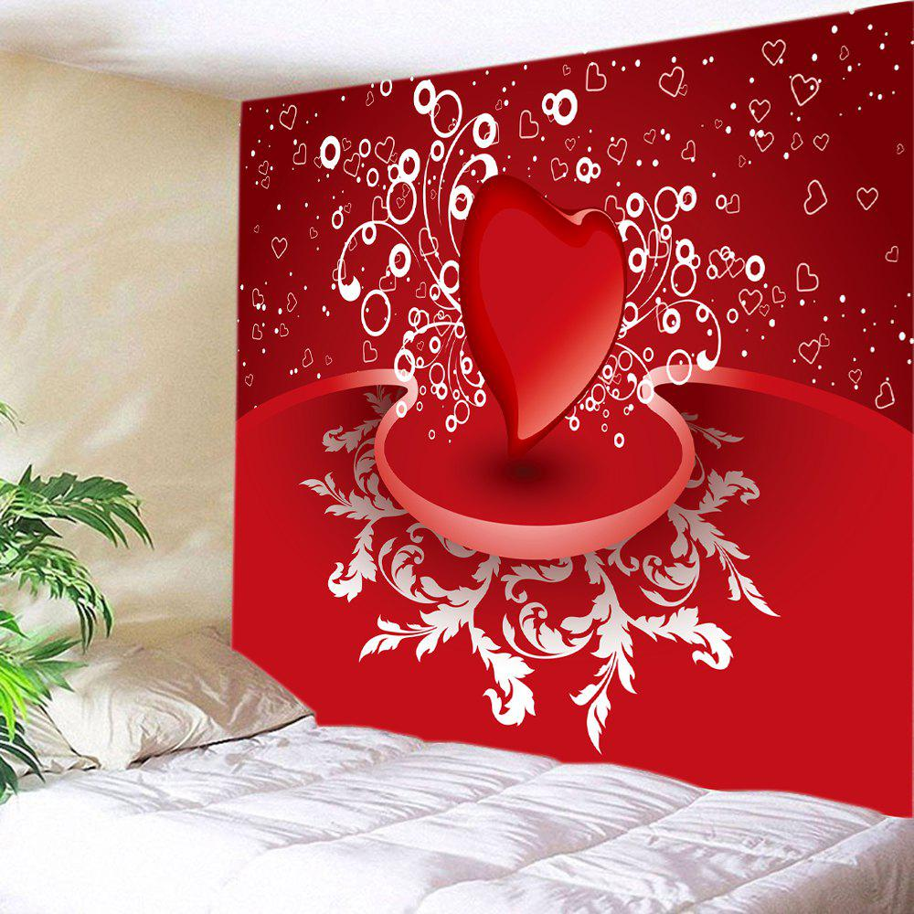 Valentine's Day Heart Print Tapestry Wall Art valentine s day heart starlight print tapestry wall hanging decoration