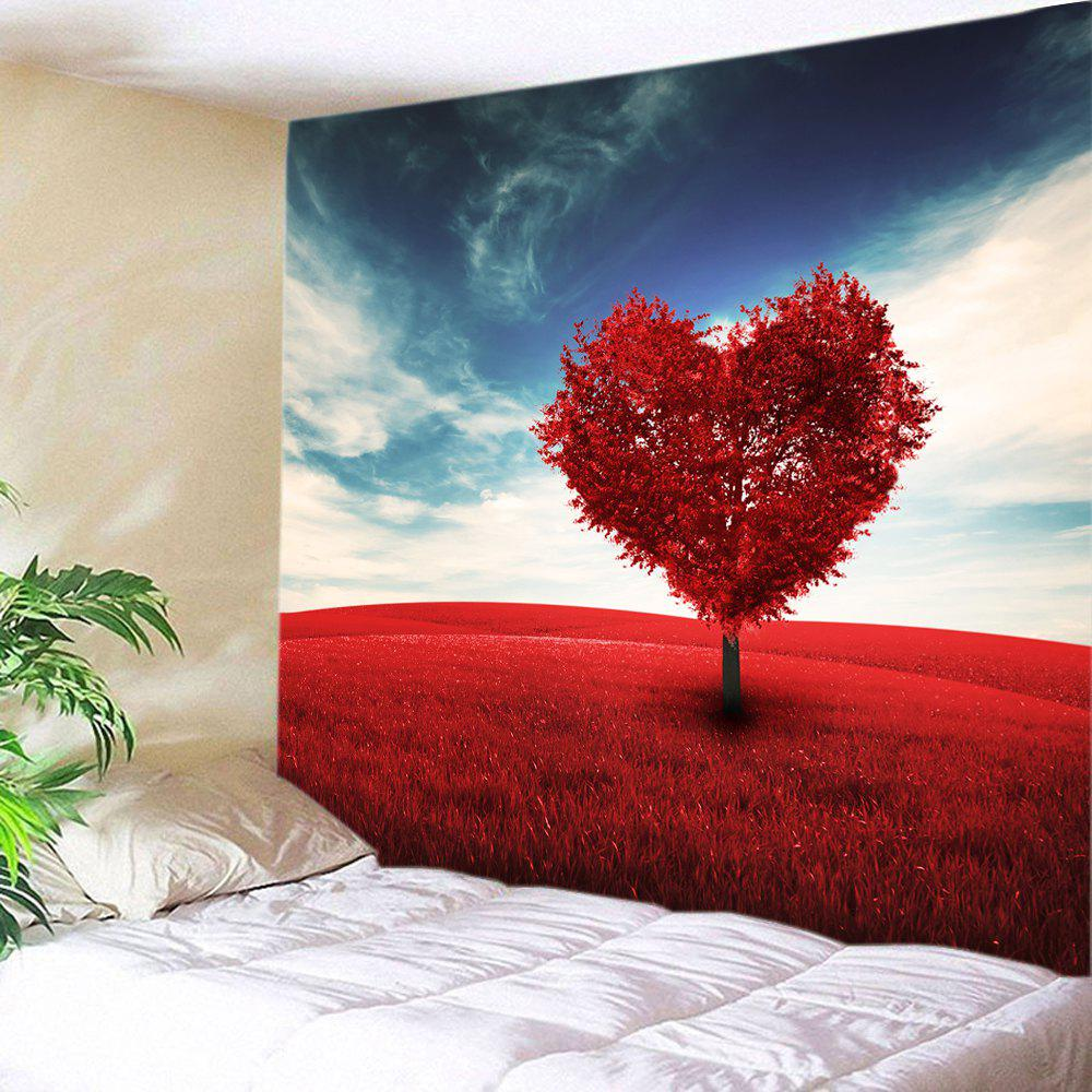 Valentine's Day Heart Tree Print Tapestry Wall Art valentine s day heart starlight print tapestry wall hanging decoration