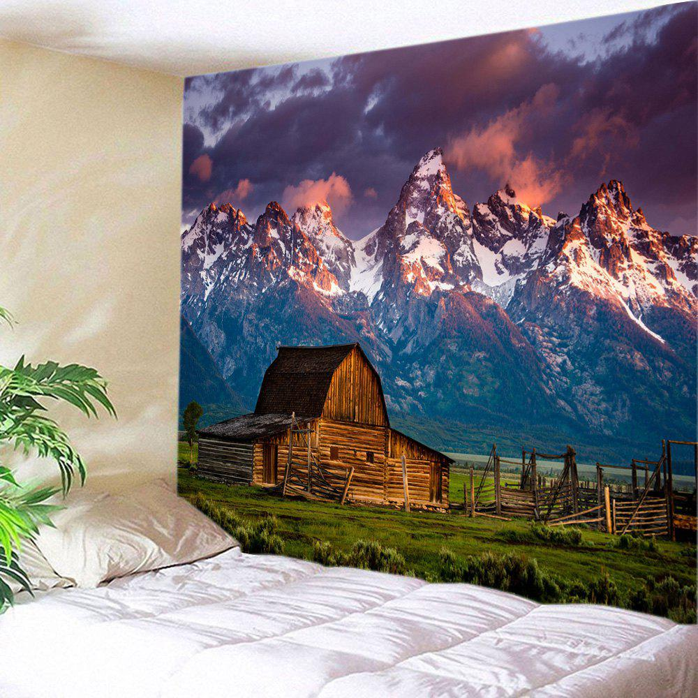 Mountains House Print Tapestry Wall Hanging Art wall hanging art decor mountains night print tapestry