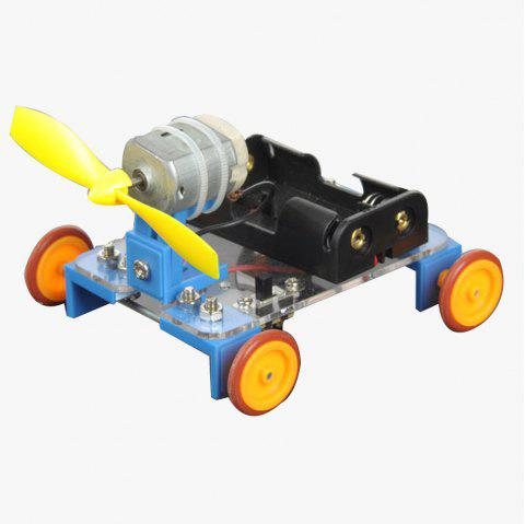 PXWG KB000023 Yellow Wheel Wind-powered Car No.7 Kits for Handmade DIY - COLORMIX
