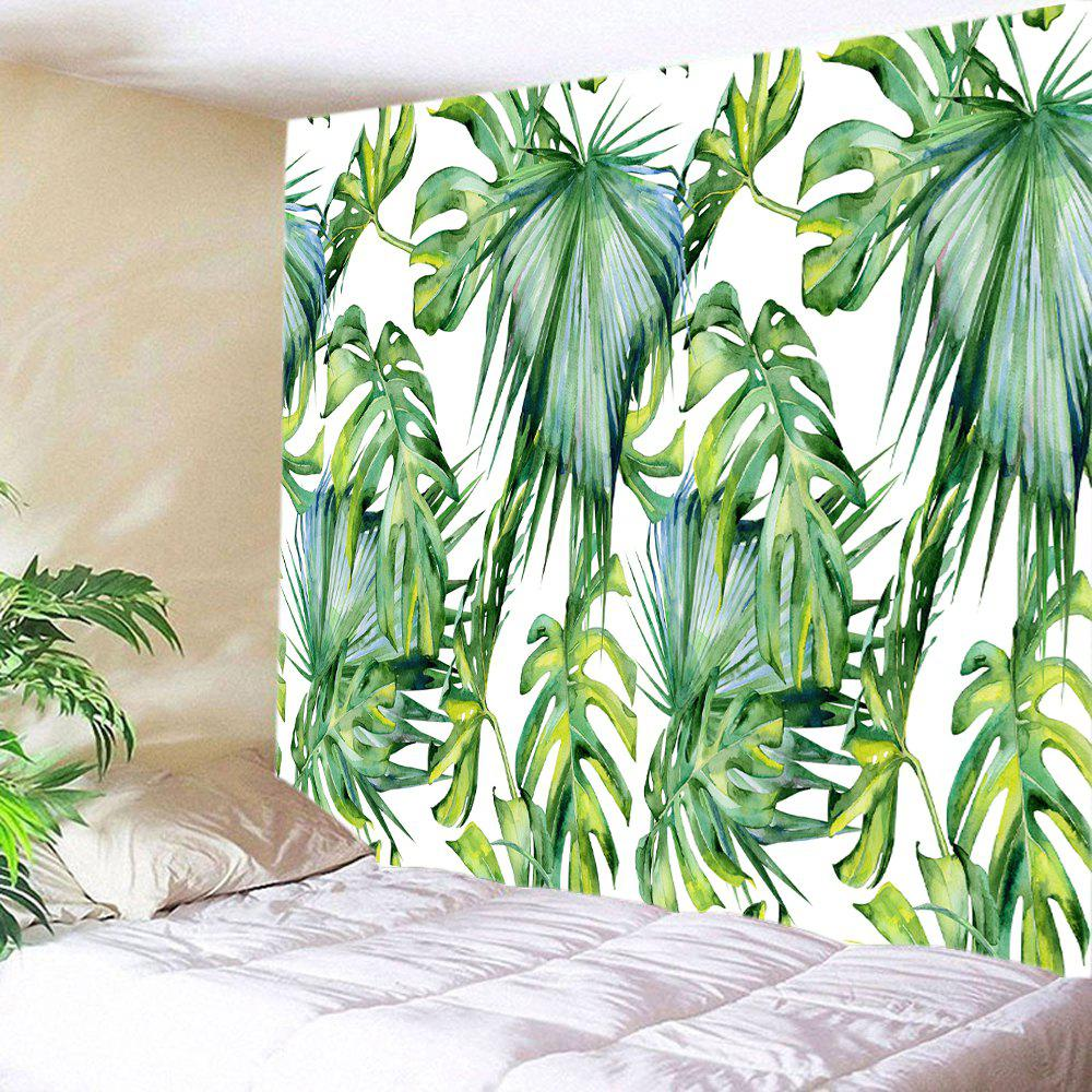 Tropical Leaves Print Tapestry Wall Hanging Art tropical leaves print tapestry
