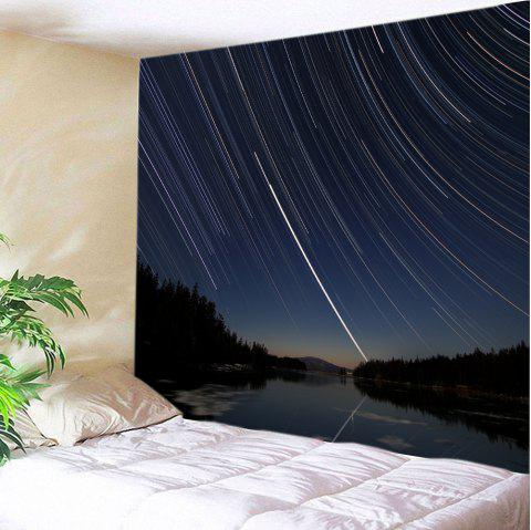 Meteor Vortex Print Tapestry Wall Hanging Art - BLACK W59 INCH * L59 INCH