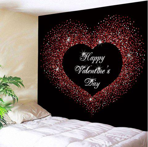Valentine's Day Greeting Love Heart Print Wall Hanging Art Tapestry - COLORMIX W79 INCH * L71 INCH