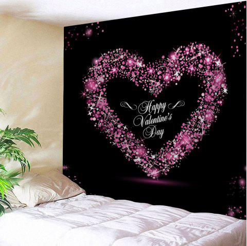 Valentine's Day Heart Print Tapestry Wall Art Decoration - COLORMIX W91 INCH * L71 INCH