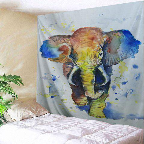 Elephant Painting Print Tapestry Wall Hanging - COLORFUL W79 INCH * L59 INCH