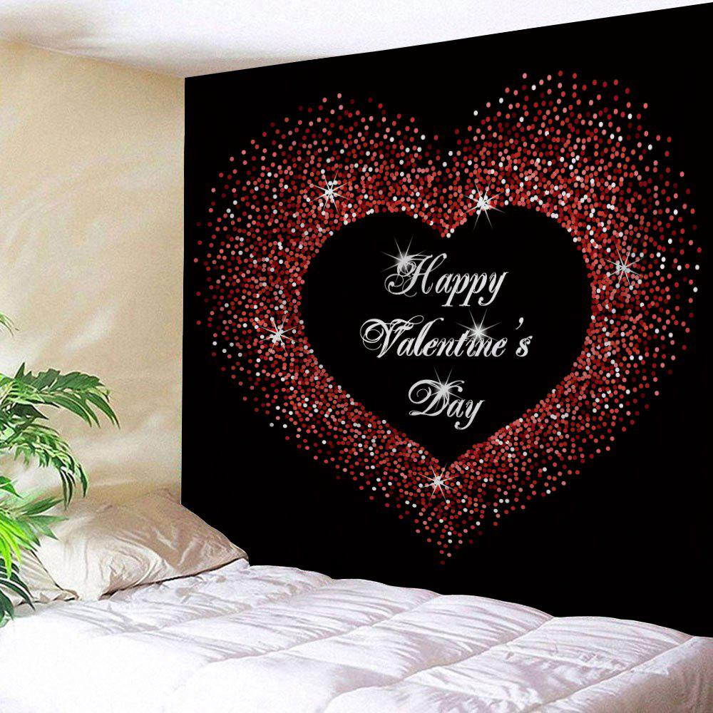 Valentine's Day Greeting Love Heart Print Wall Hanging Art Tapestry valentine s day full heart printed wall art decor hanging tapestry
