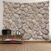 Stones Wall Print Tapestry Wall Hanging Art - LIGHT BROWN W79 INCH * L59 INCH