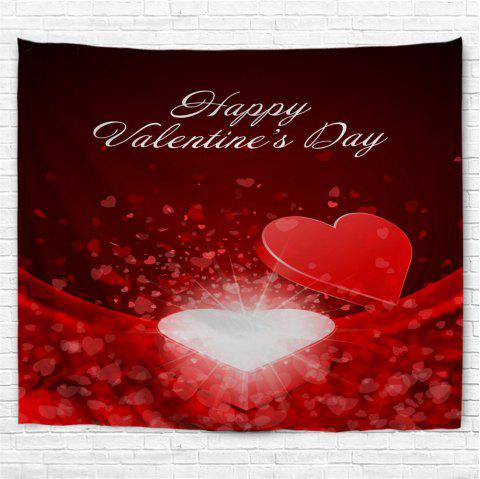 Valentine's Day Heart Box Pattern Wall Hanging Tapestry - RED W79 INCH * L71 INCH