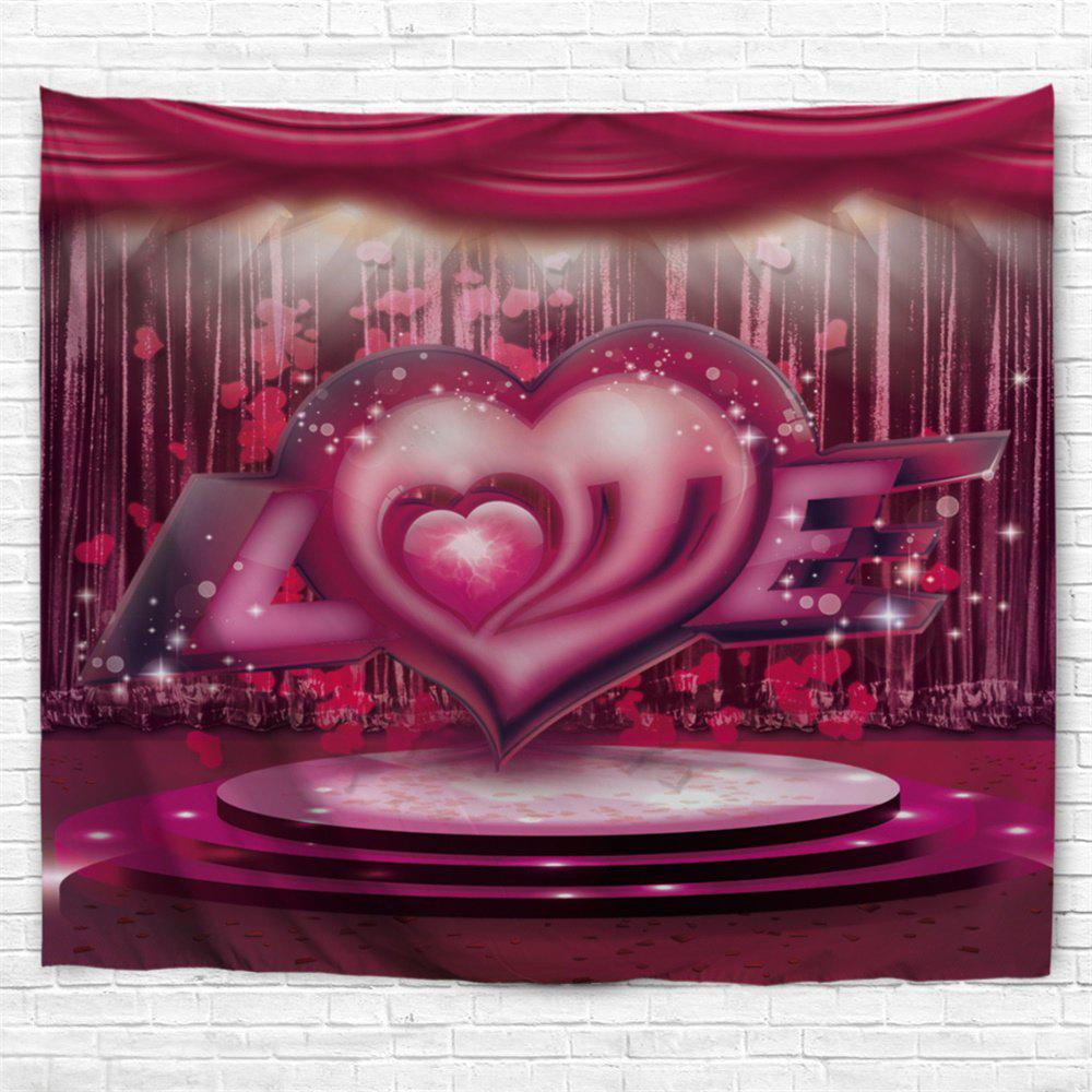 2018 valentine 39 s day love stage pattern wall tapestry rose Valentine stage decorations