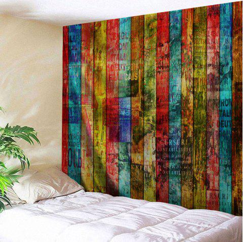 Colorful Woodgrain Pattern Wall Art Tapestry - COLORFUL W59 INCH * L59 INCH