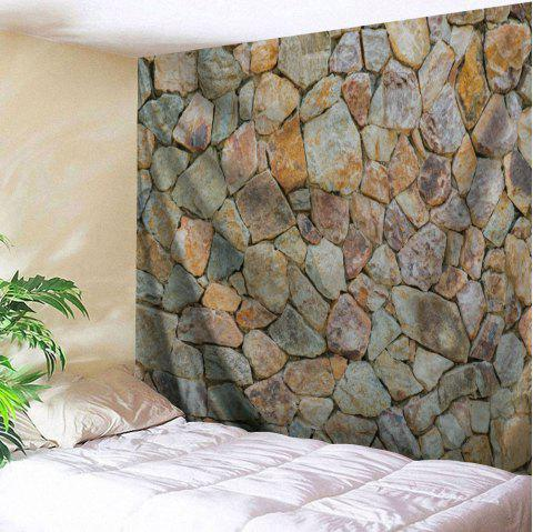 Stones Wall Pattern Tapestry Hanging Art Decoration - LIGHT BROWN W79 INCH * L71 INCH