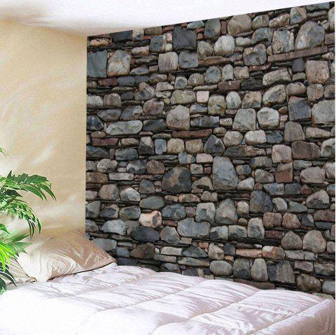 Stones Wall Print Hanging Art Tapestry - DUN W91 INCH * L71 INCH