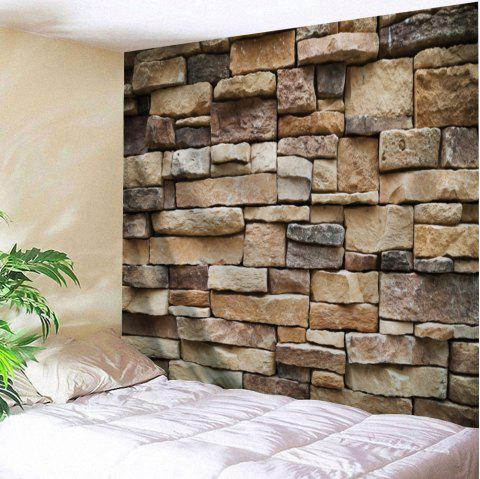 Stones Brick Wall Print Hanging Art Tapestry - LIGHT BROWN W59 INCH * L51 INCH