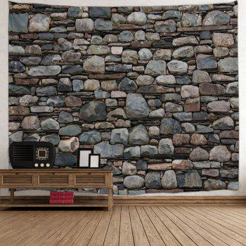 Stones Wall Print Hanging Art Tapestry - DUN W79 INCH * L71 INCH