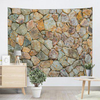 Stones Wall Pattern Tapestry Hanging Art Decoration - LIGHT BROWN W91 INCH * L71 INCH